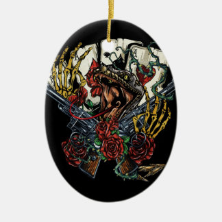 De Kaarten van het Pistool van de slang en van de Keramisch Ovaal Ornament