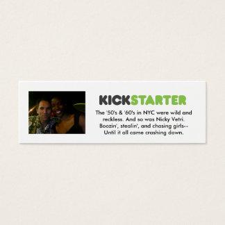 De Kaarten van Kickstarter Mini Visitekaartjes