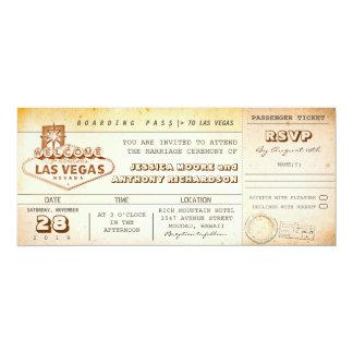 de kaartje-uitnodiging LAS VEGAS van het 10,2x23,5 Uitnodiging Kaart