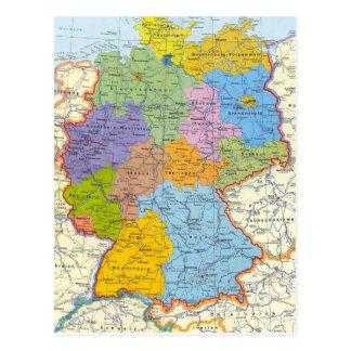 De kaartkaart 3 van Duitsland Briefkaart