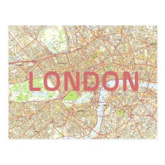 De kaartkaart van Londen Briefkaart