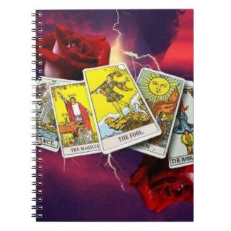 De kaartNotitieboekje van het tarot Ringband Notitieboek