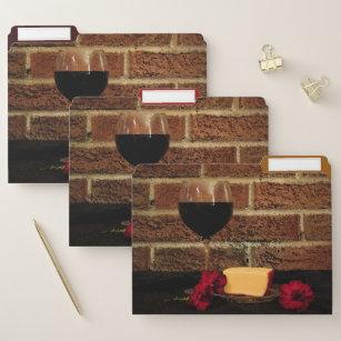 De Kaas van de wijn en de Rode Reeks van de Omslag Documentenmap