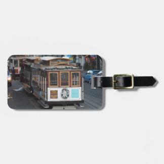 De Kabelwagen van San Francisco Bagagelabel