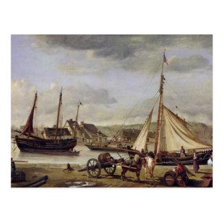De kade van de Handelaar in Rouen, 1834 Briefkaart