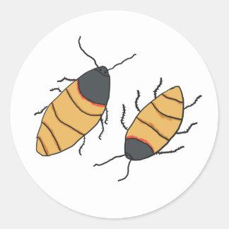 De Kakkerlakken van het gesis Ronde Sticker