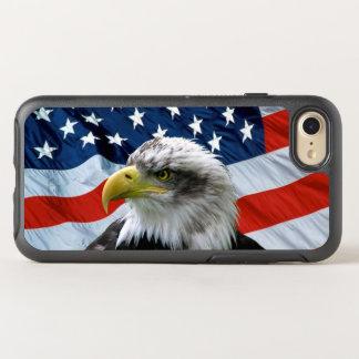 De kale Amerikaanse Vlag van Eagle OtterBox Symmetry iPhone 8/7 Hoesje