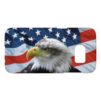 De kale Amerikaanse Vlag van Eagle Samsung Galaxy S7 Hoesje