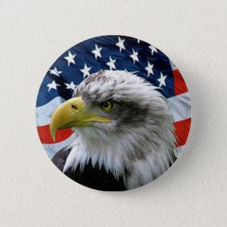 De kale Knoop van de Vlag van Eagle Amerikaanse Ronde Button 5,7 Cm