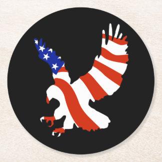 De kale Patriottische Vlag van Eagle Ronde Onderzetter