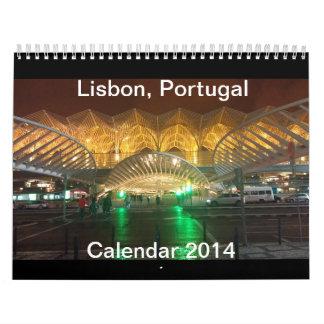 De Kalender 2014 van Lissabon, Portugal (wijzig