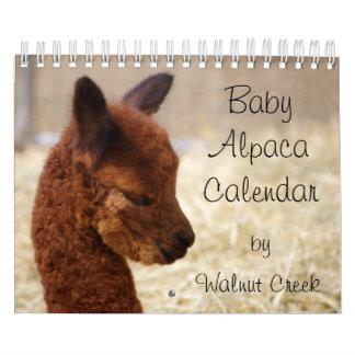 De Kalender 2018 van de Alpaca van het baby
