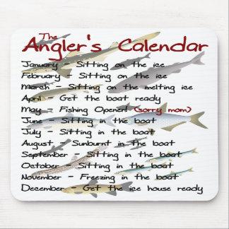 De kalender Mousepad van de Visser Muismatten