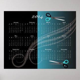 de kalender van 2014 poster