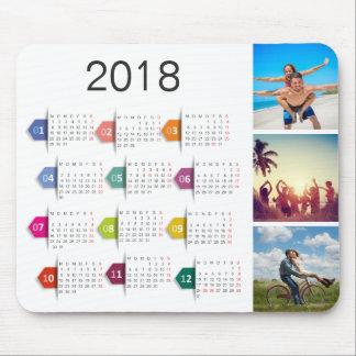 De Kalender van de Collage 2018 van de Foto van Muismat