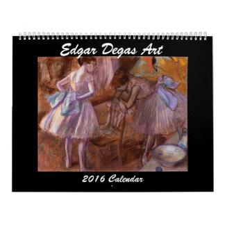 De Kalender van de Kunst 2016 van Edgar Degas