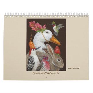 De kalender van de Kunst van de Zager van Vicki