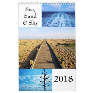 De Kalender van de Muur van het zee, van het Zand