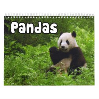 De Kalender van de Muur van panda's