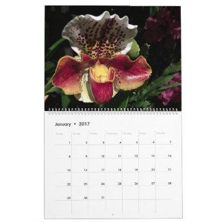 De Kalender van de Orchideeën 2017 van Brooklyn