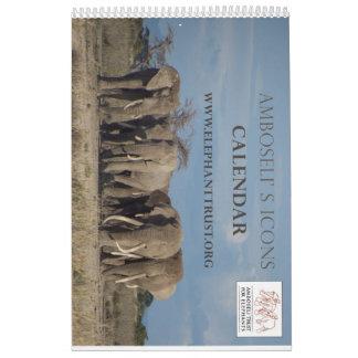 De Kalender van de Pictogrammen van Amboseli