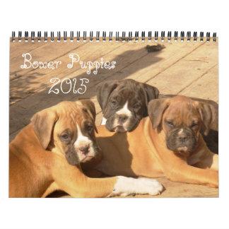 De Kalender van het Puppy 2015 van de bokser