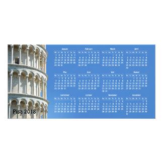 De kalender van Pisa, Italië 2018 Kaart