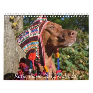 De Kalender van Vizsla 2012 van Katie