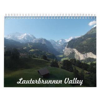 De Kalender van Zwitserland van de Vallei van