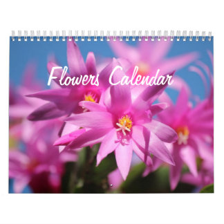 De Kalenders van de Muur van bloemen Kalender