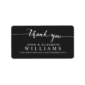 De Kalligrafie van het bedankt van het huwelijk | Etiket