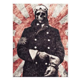 De kamikaze van de schedel briefkaart