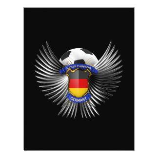 De Kampioenen van het Voetbal van Duitsland Folder Ontwerp