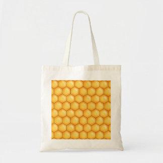 de kamtextuur van de honingsbij budget draagtas
