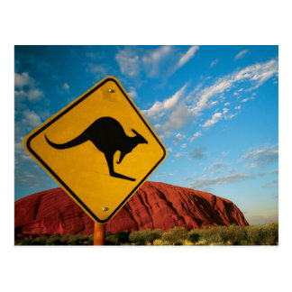 de kangoeroeteken van de ayersrots briefkaart