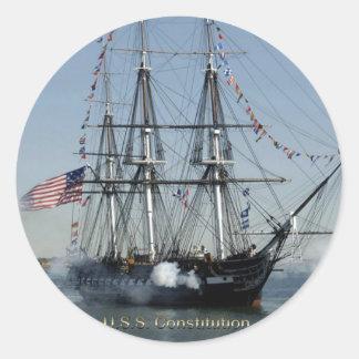 De Kanonnen van het Vuren van de Grondwet van USS Ronde Sticker