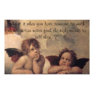 De Kantoorbehoeften van de Engelen van Raphael Briefpapier