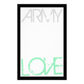 De Kantoorbehoeften van de Liefde van het leger Briefpapier