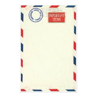de kantoorbehoeften van de luchtpost aangepast briefpapier