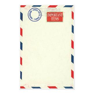 de kantoorbehoeften van de luchtpost briefpapier