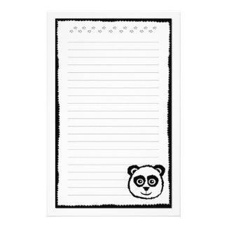 De Kantoorbehoeften van de panda Briefpapier