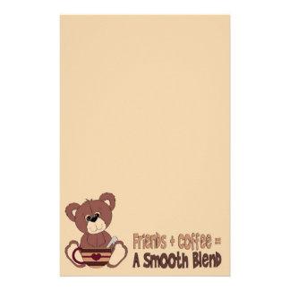 De Kantoorbehoeften van de Tijd van de koffie Briefpapier