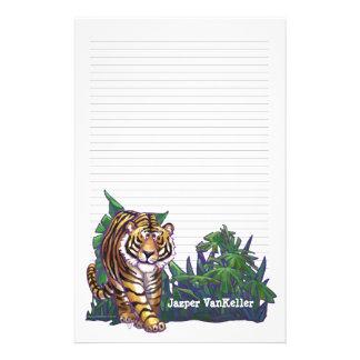 De Kantoorbehoeften van de tijger Briefpapier