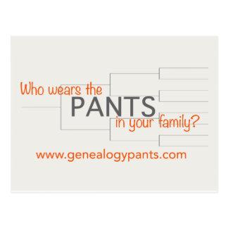 De Kantoorbehoeften van GenealogyPANTS Briefkaart