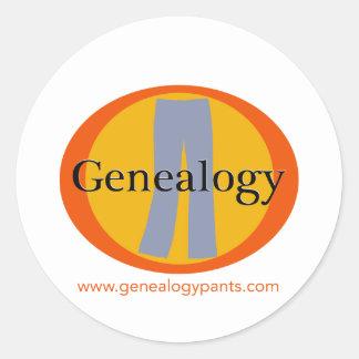 De Kantoorbehoeften van GenealogyPANTS Ronde Stickers