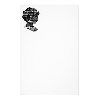 De Kantoorbehoeften van het Meisje van Jane Austen Briefpapier