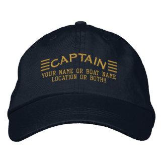 De KAPITEIN Strepen personaliseerde Uw Lokale Boot Pet 0