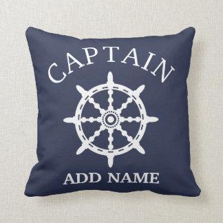 De Kapitein van de boot (personaliseer de Naam van Sierkussen