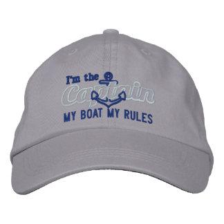 De kapitein zegt Mijn Boot Mijn Regels Petten 0