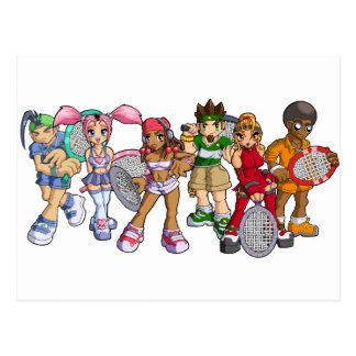 De Karakters van het Tennis van Anime Briefkaart
